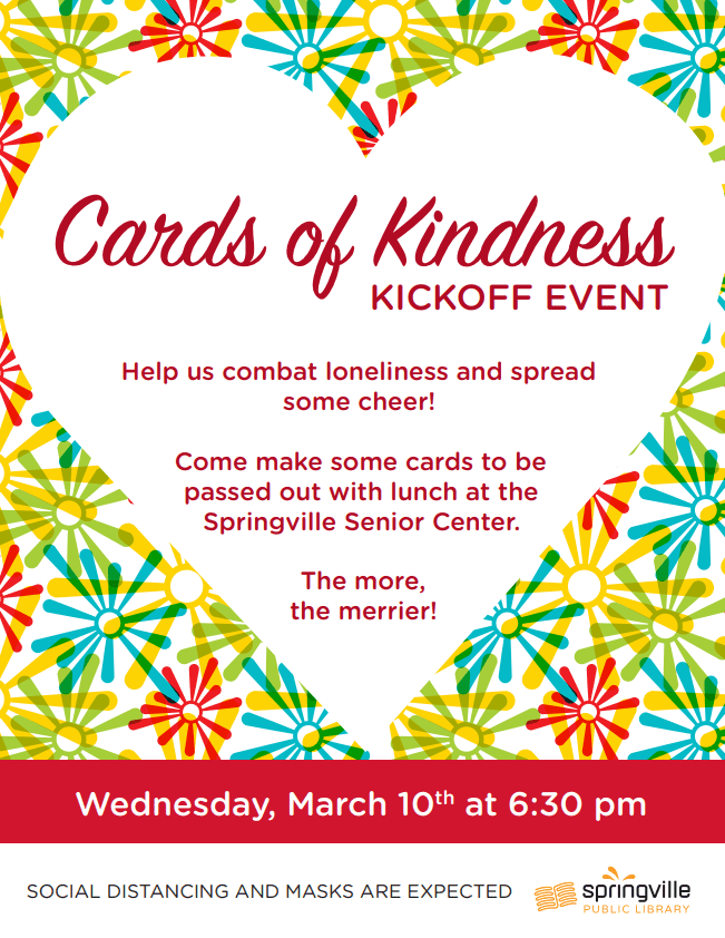 Cards of Kindness Kickoff @ Springville Public Library