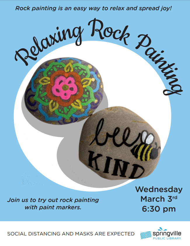 Relaxing Rock Painting @ Springville Public Library