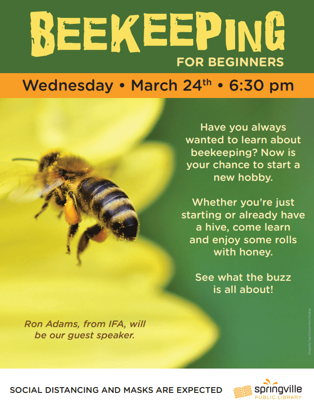 Beekeeping for Beginners @ Springville Public Library