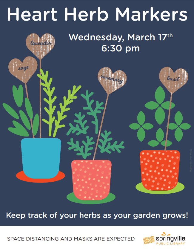 Heart Herb Markers @ Springville Public Library