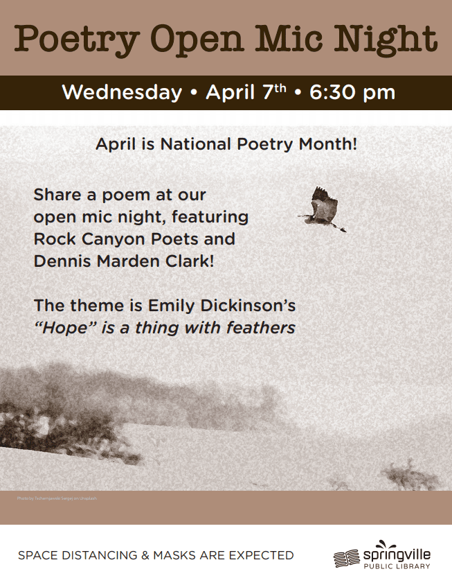 Poetry Open Mic Night @ Springville Public Library