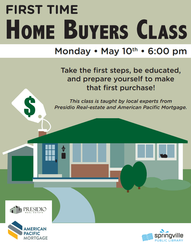 First Time Home Buyers @ Springville Public Library